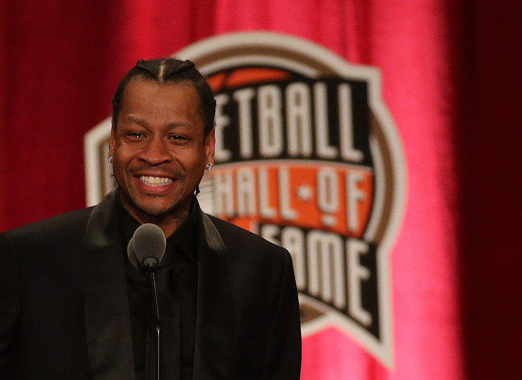 allen iverson had an emotional enshrinement in the hall of fame