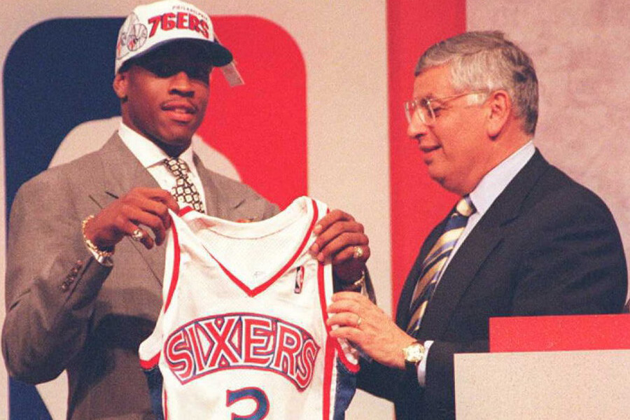 allen iverson drafted by the 76ers