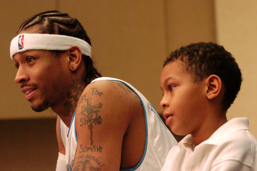 allen iverson never knew his father growing up