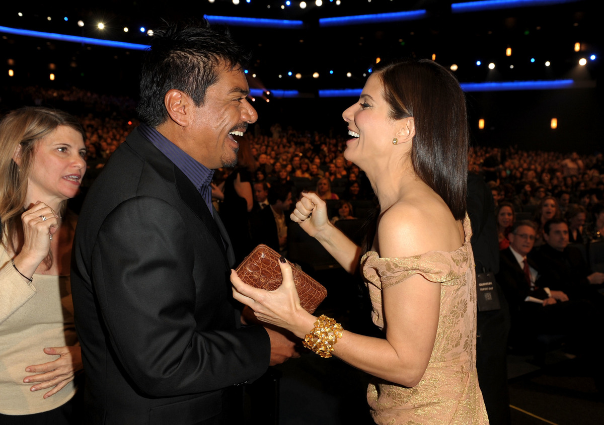 sandra bullock gave friend george lopez a blackberry