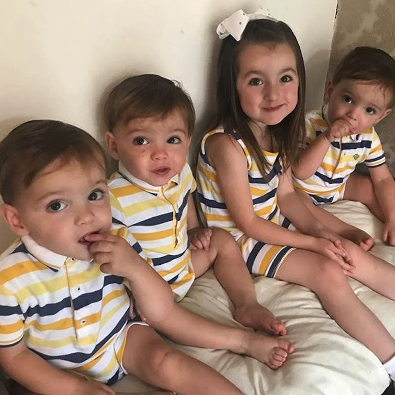 Indiana with Rocco, Roman, and Rohan identical triplets siblings