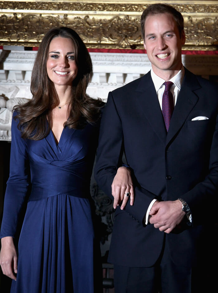 handsome couple consisting of Kate and William