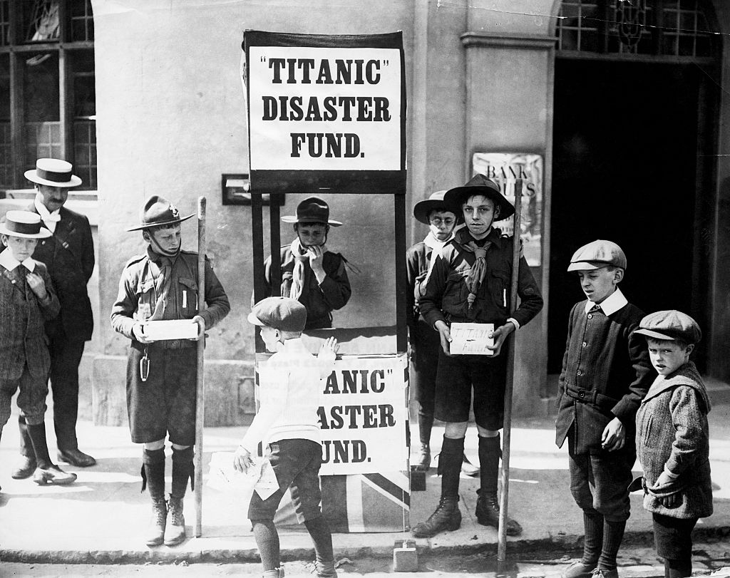 titanic disaster fund black and. white