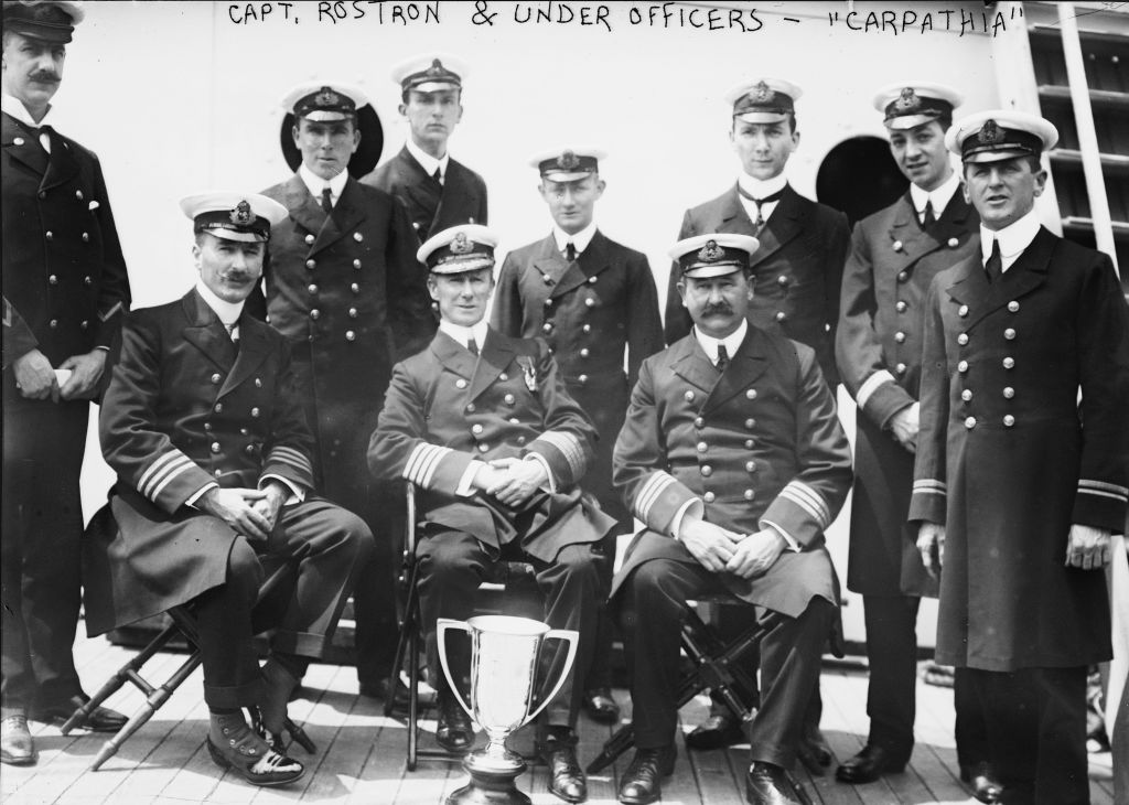 titanic carpathia crew black and white