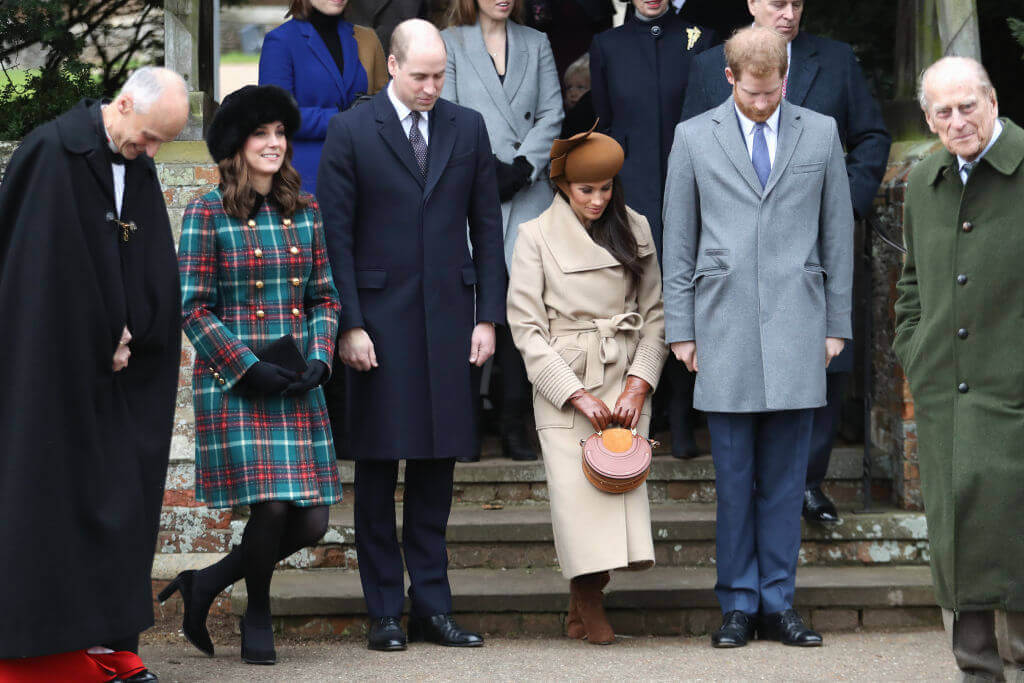 Kate, William, Charles, Harry mourning