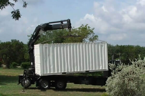 digahole5-container on truck