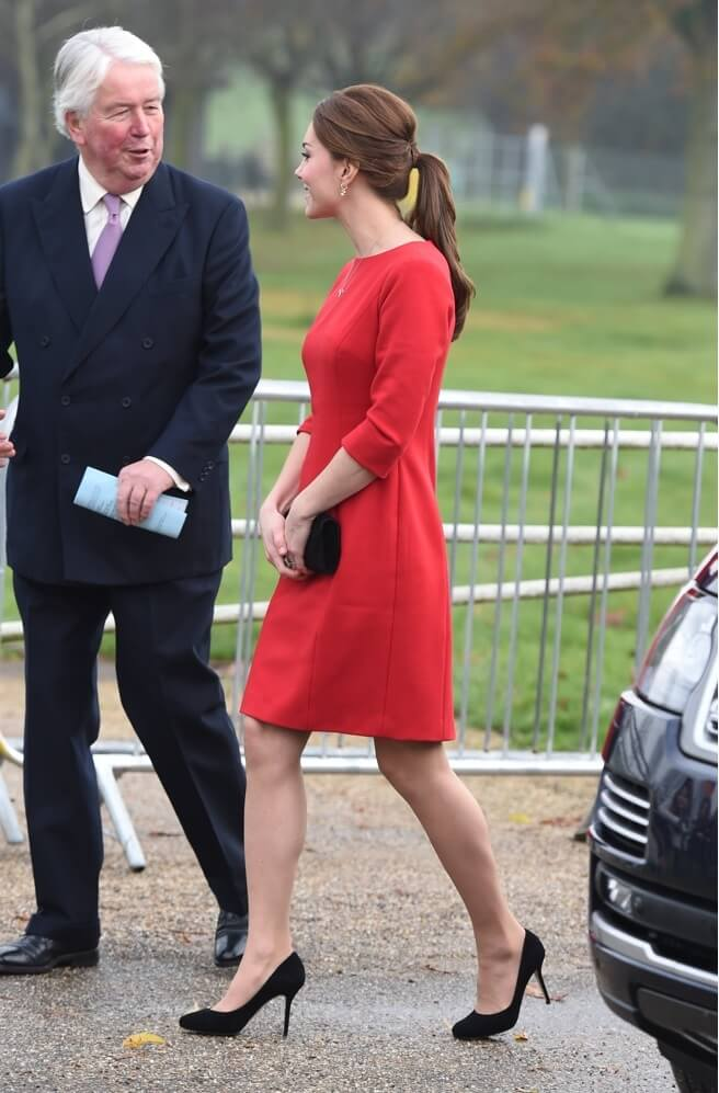 the-duchess-of-cambridge-attends-the-each-norfolk-capital-appeal-and talks to an older gentleman