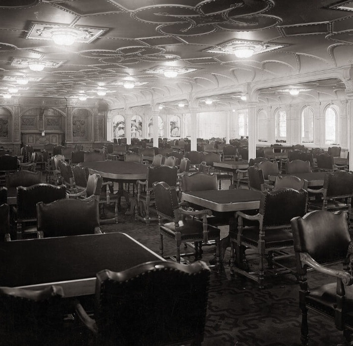 titanic-16-2nd class social lounge black and white