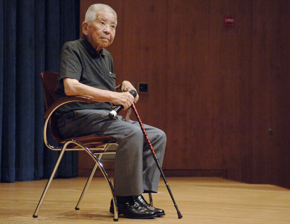 Tsutomu Yamaguchi is a 90-year-old survivor of the bombings of Hiroshima on August 6, 1945 and Nagasaki on August 9, 1945.
