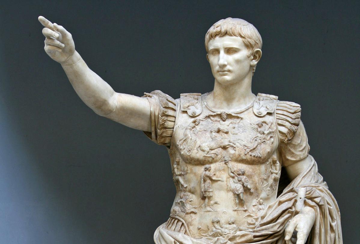statue of the last Roman emperor, Romulus Augustus