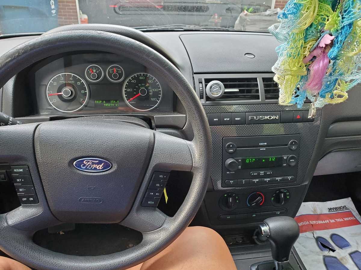 a photo of the car's dashboard