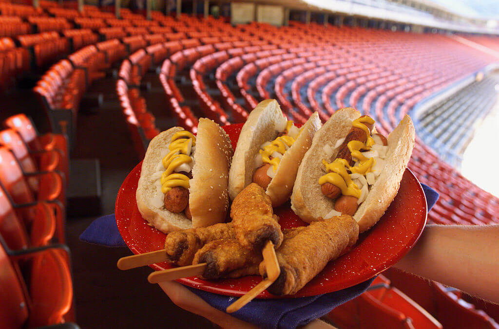 hot dogs at sports stadiums not fresh