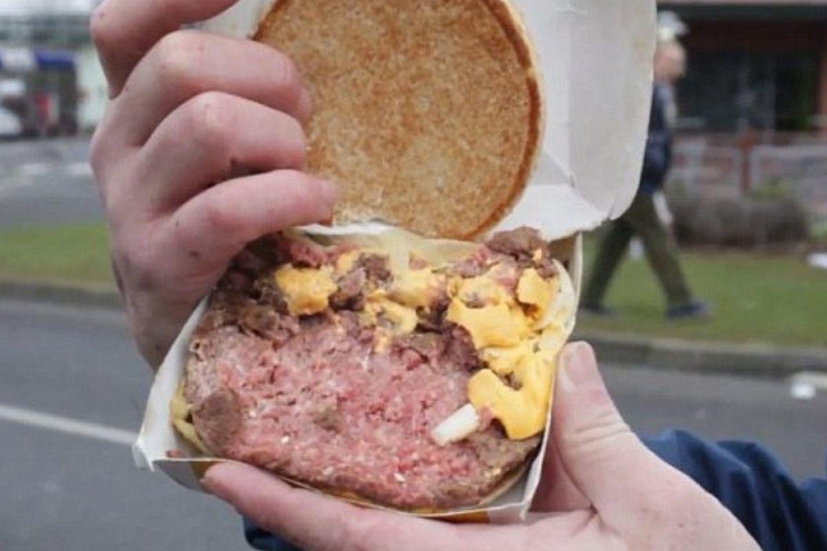 raw burger mcdonalds no grill marks