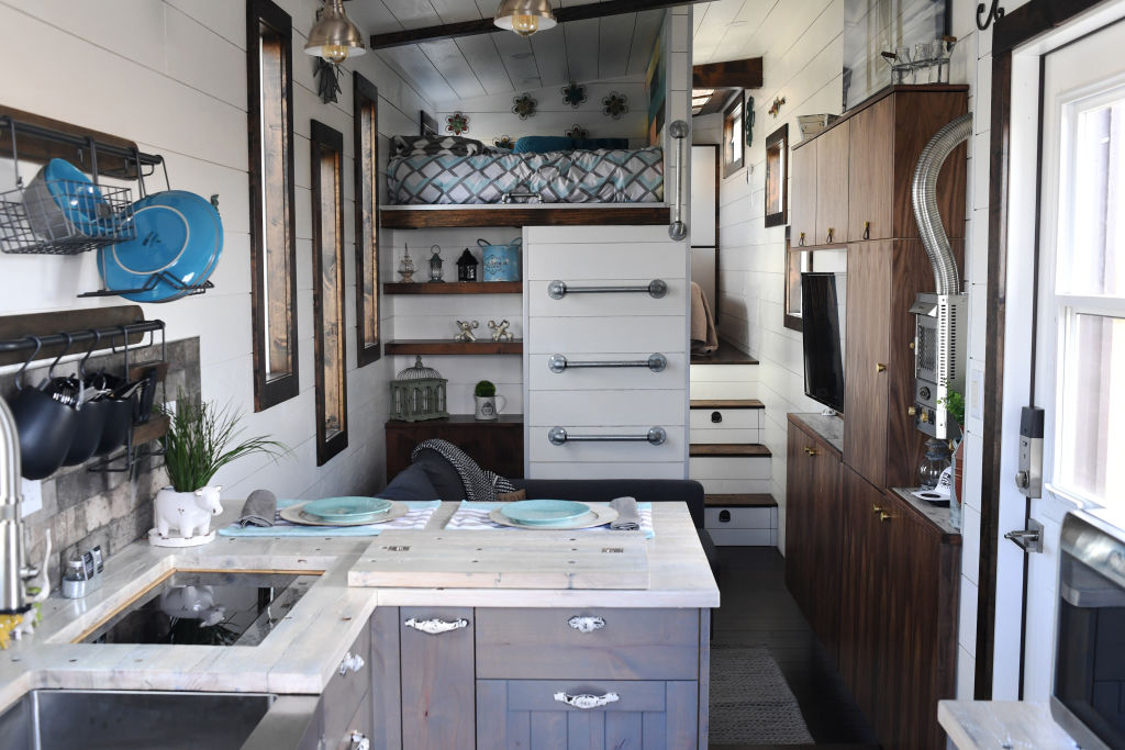 tiny house with kitchen and everything within reach