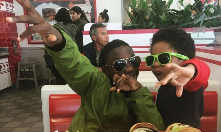 Brothers Michael and Dayshawn eat together at In-N-Out