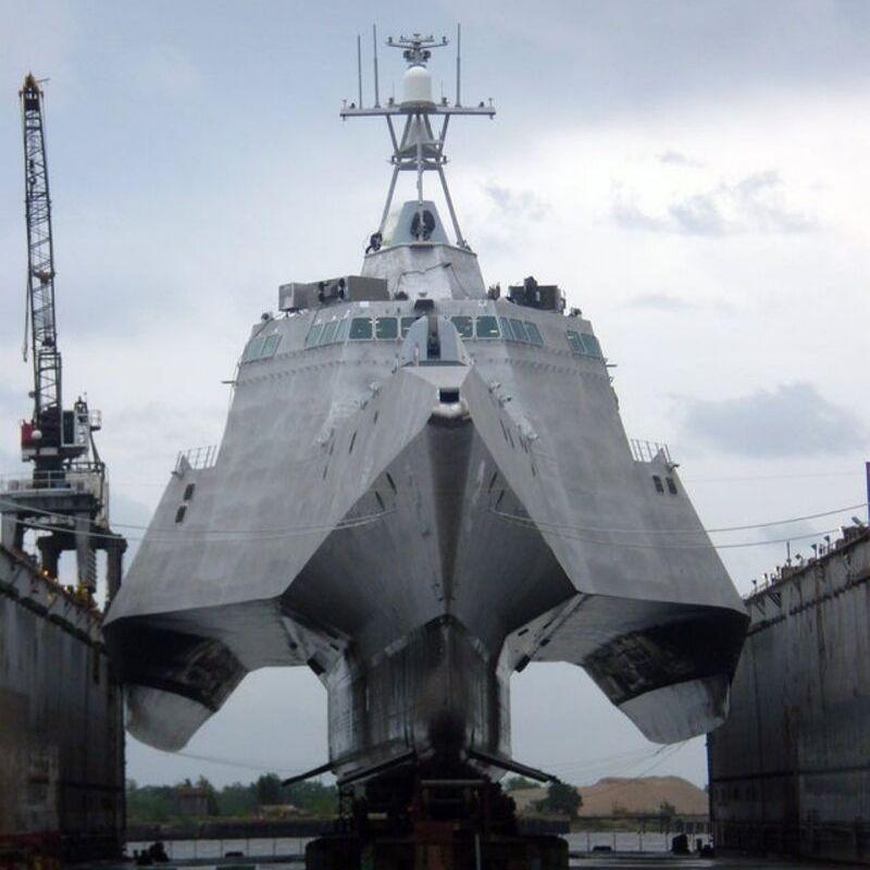battleship with no water around it