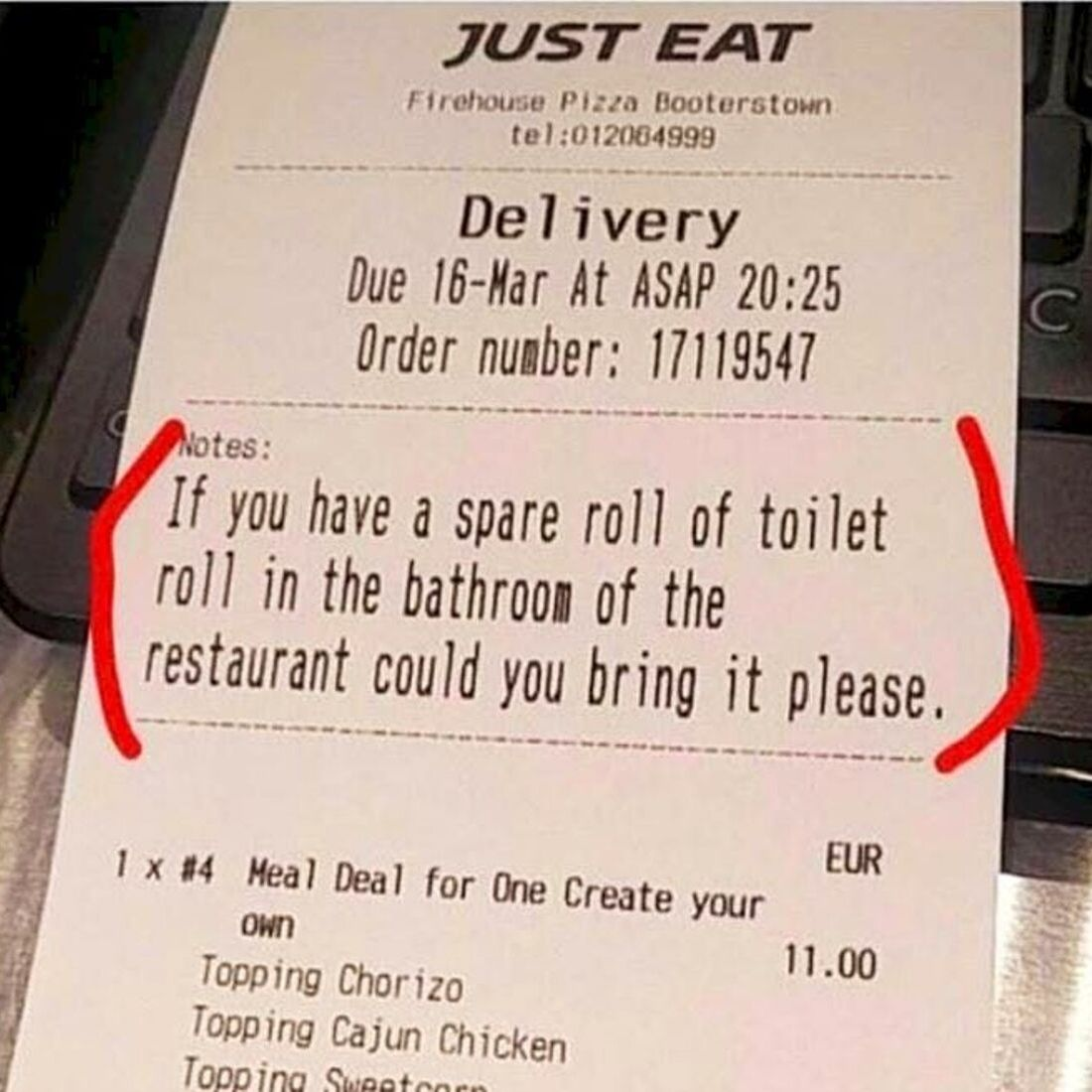 delivery just eat