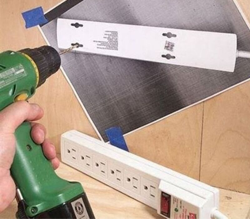 drilling hack for hanging something