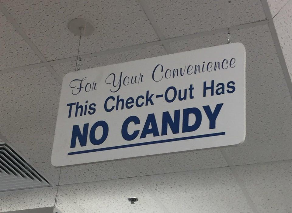 candy free checkot