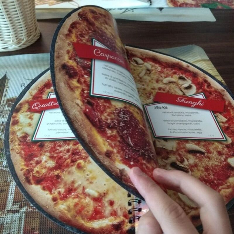 pizza pie with a picture