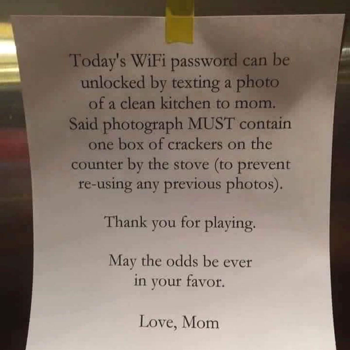 wifi password hostage