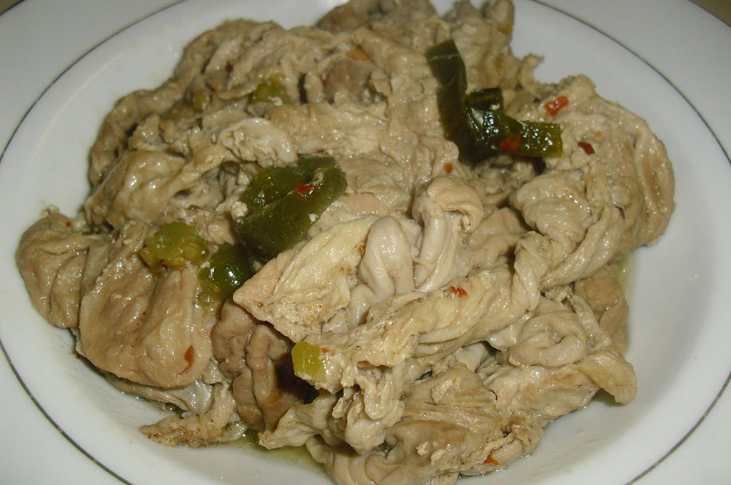 Plate of chitterlings