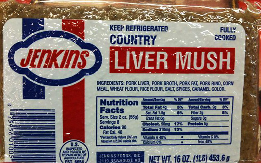 Packaged liver mush