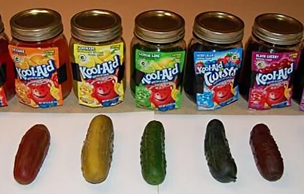 Different flavored koolickles