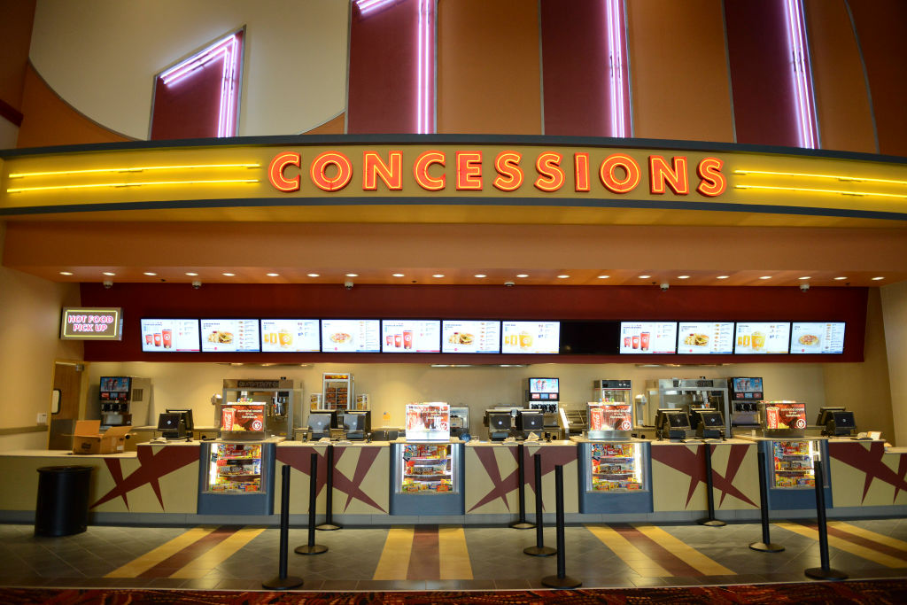 Lit-up concessions stand