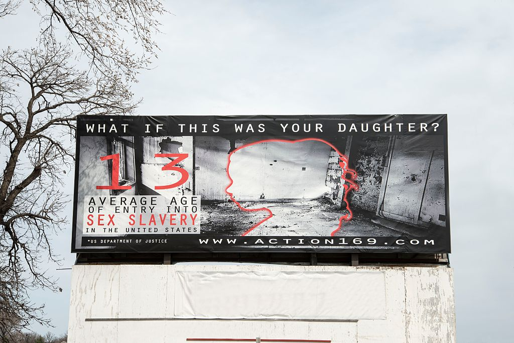 Human trafficking billboard