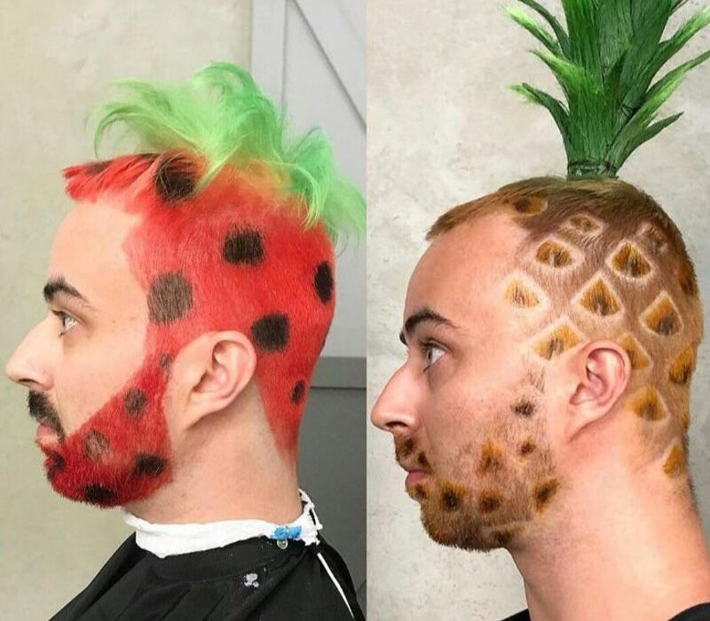 fruits on the head