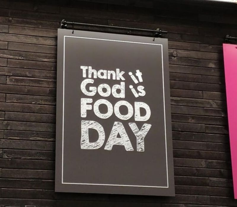 food day sign