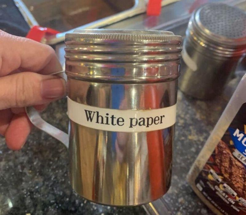 white pepper shaker