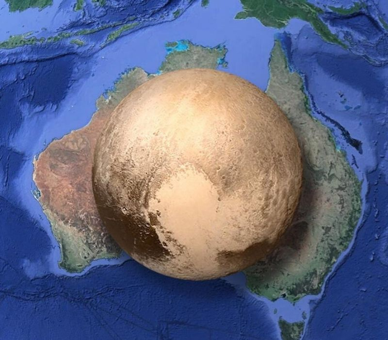 pluto is the size of australia