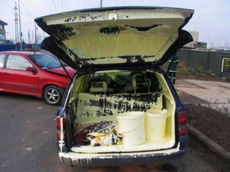 painting the town with paint in your car