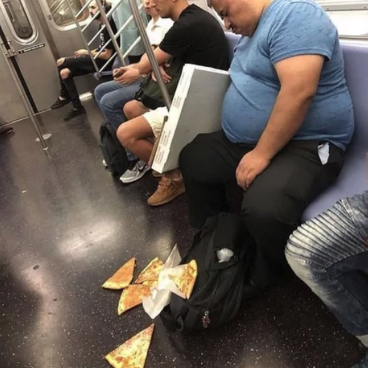 pizza nightmare on a subway