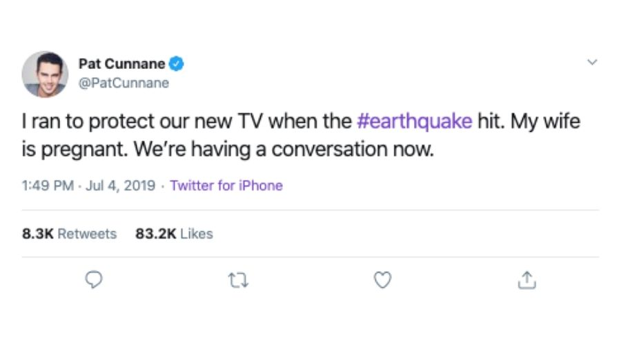 pregnant in an earthquake but save the tv