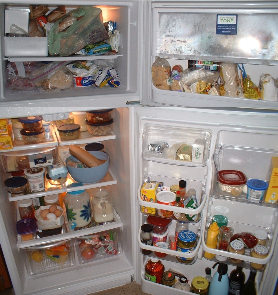 a picture of a full fridge