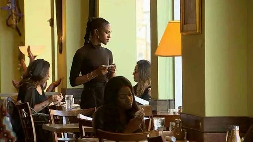 taking food orders in restaurant