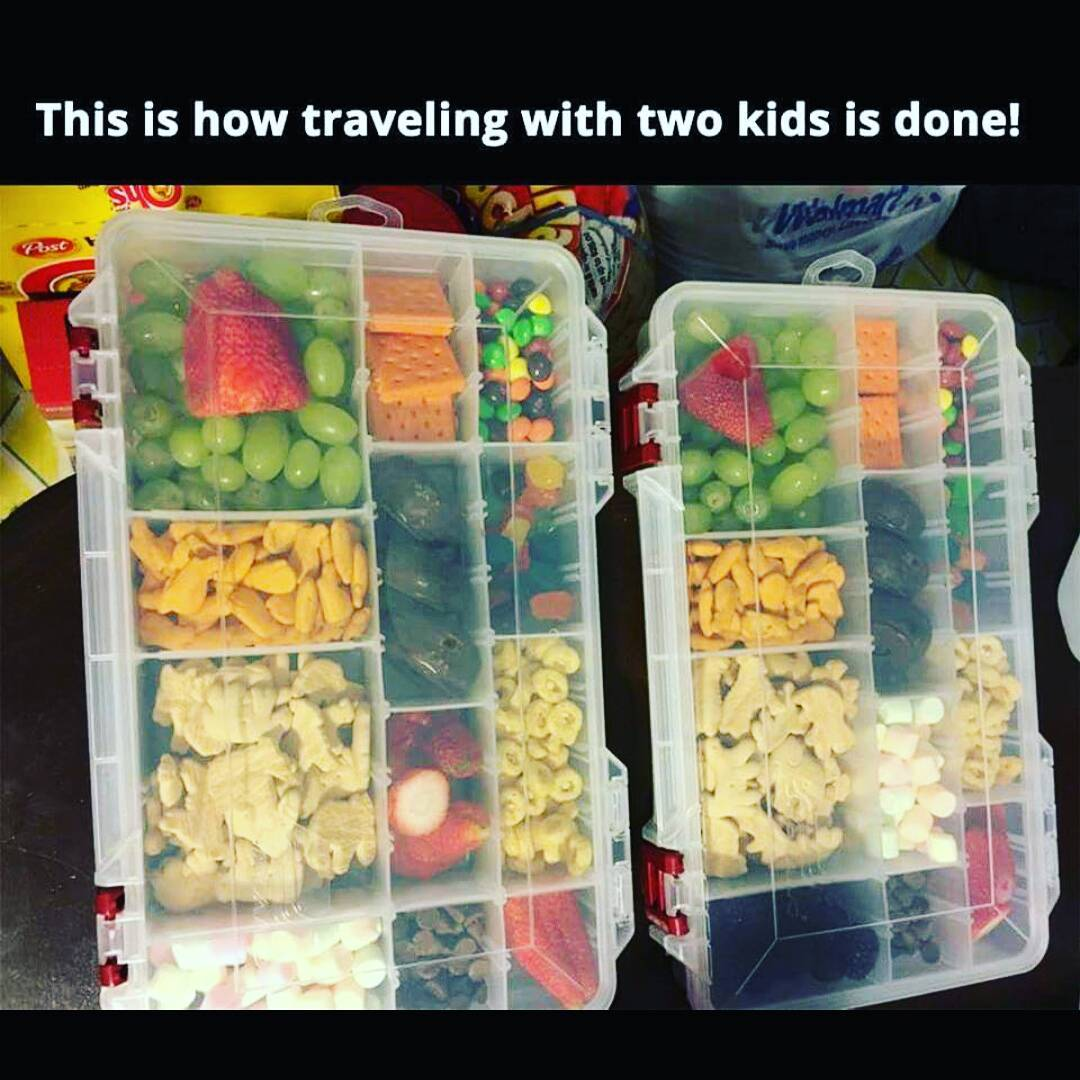 separating kids snacks on road trips