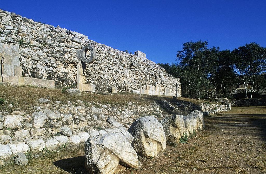 Ancient Mayan sports field