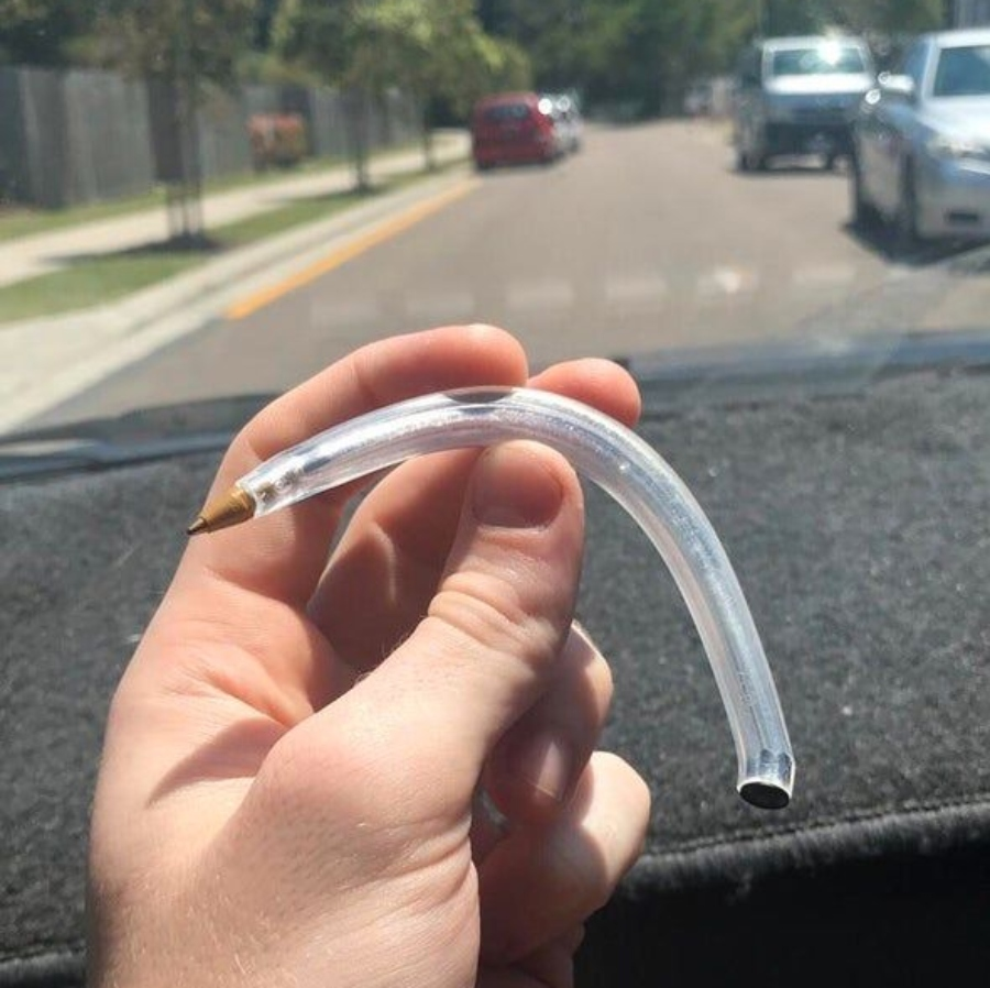 a pen bent after being left in car for weeks