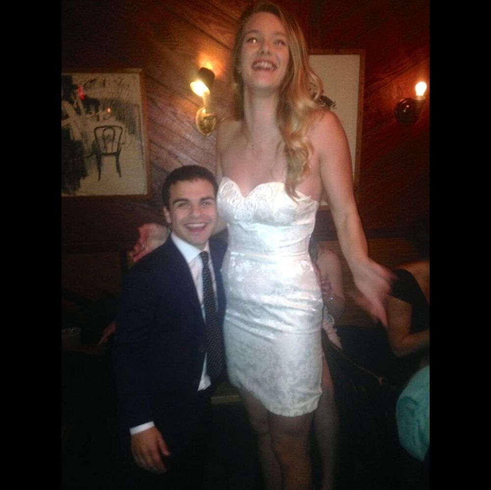 short man and his very tall date