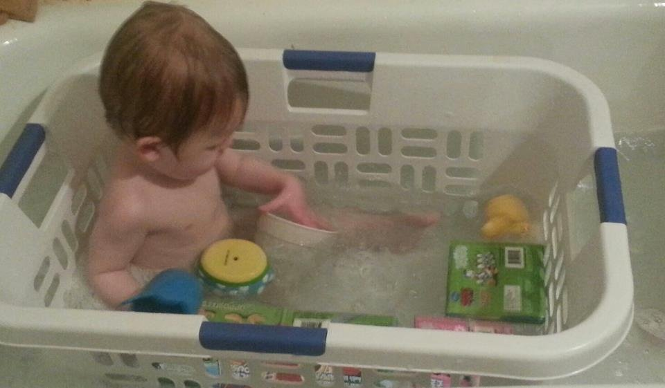 bath time hack for babies