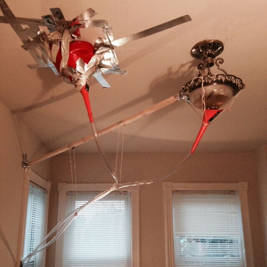 leaky ceiling fix from the landlord