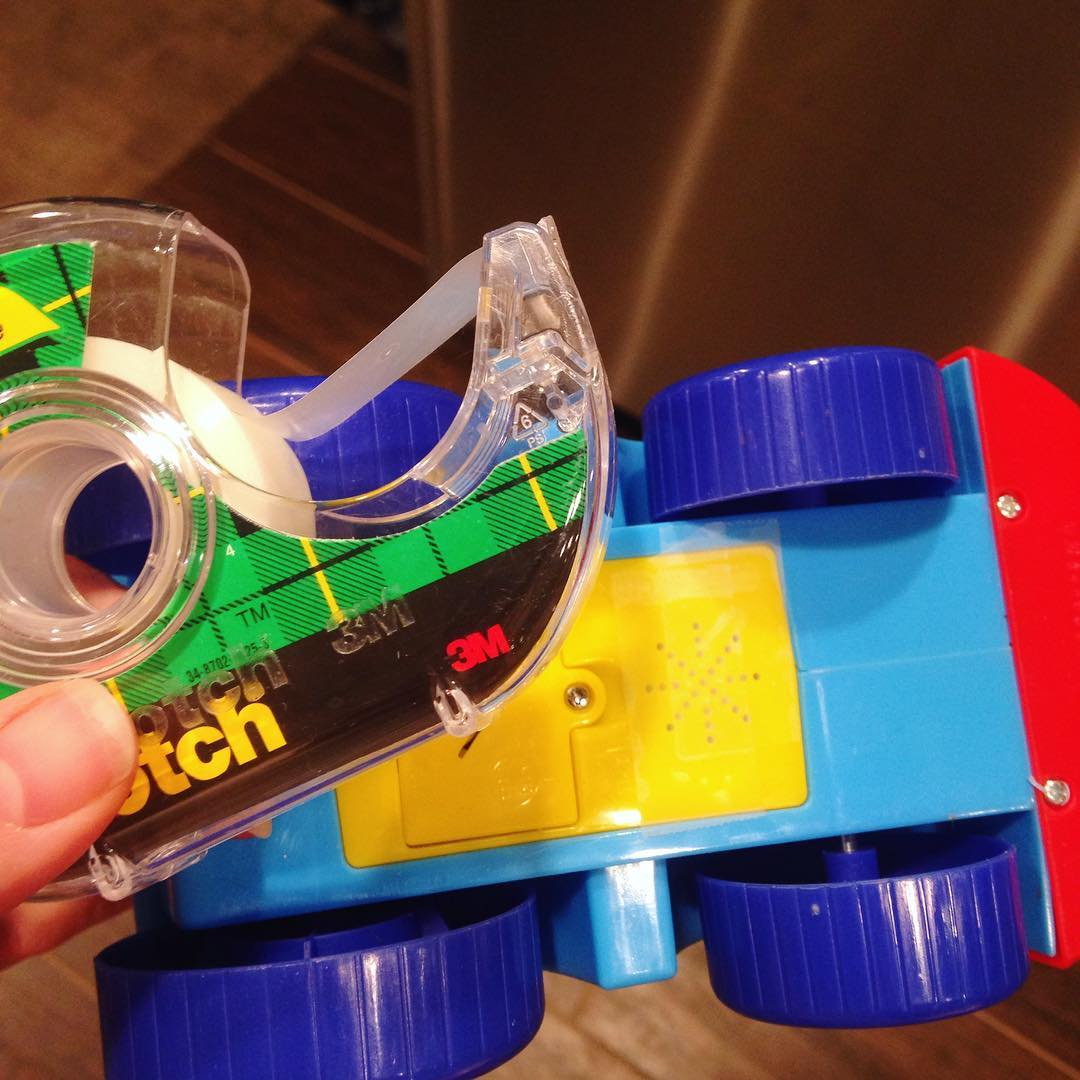 put tape over your kid's speaker toys