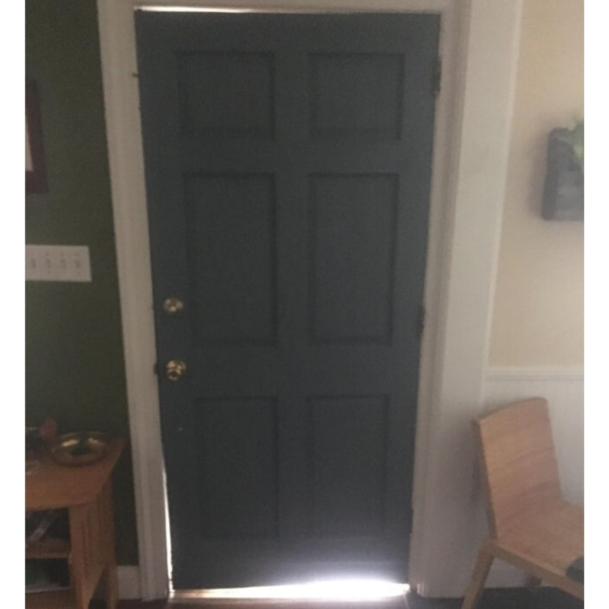natural light and an ill fitting door