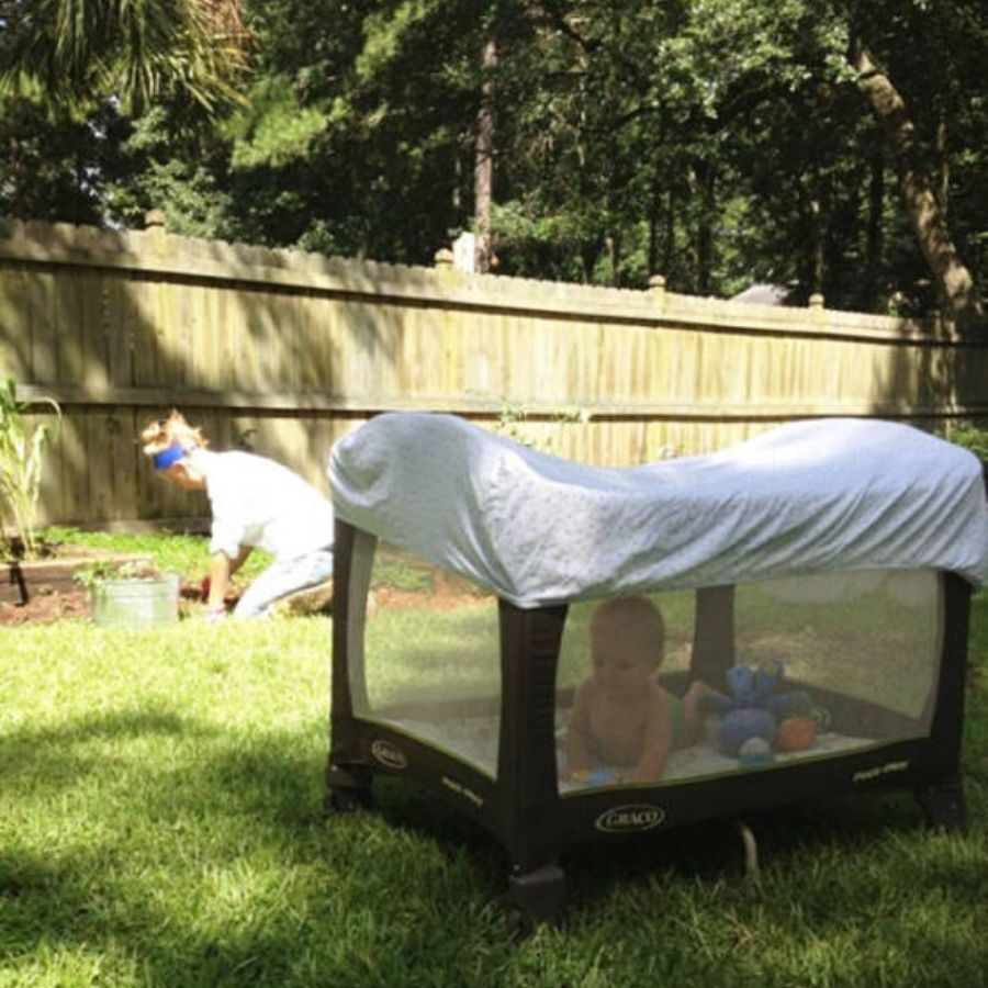 outdoor baby trick for parents
