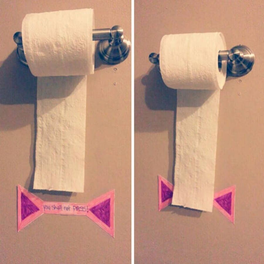trick to teach children how much toilet paper to use