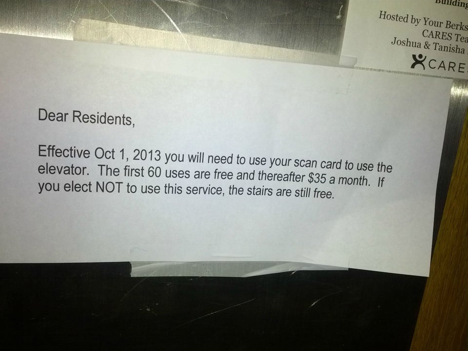 landlord saying elevator will cost money